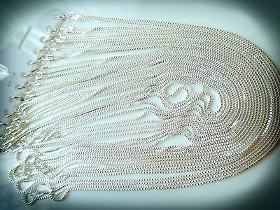 Wholesale Bulk - 5 pcs - Silver Plated Brilliant Necklace Chain 60cm - Quality