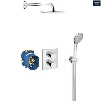 GROHE 34408 Grohtherm 3000 Cosmopolitan Thermostatic Perfect Shower Set 34408000