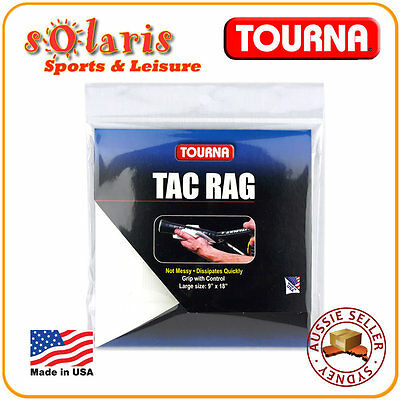 TOURNA TAG RAG Racket Grip Enhancement Beewax Tacky for Instant Gripping Power