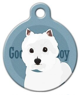 GOOD BOY - WEST HIGHLAND TERRIER - Custom Personalized Pet ID Tag for Dog Collar