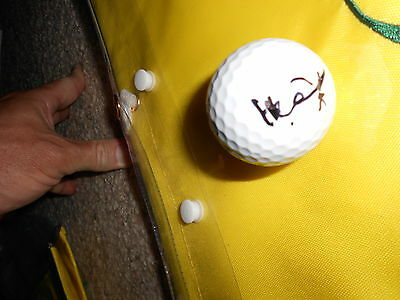 Amateur Tianlang Guan 14 year old signed autograph 2013 Masters golf logo ball