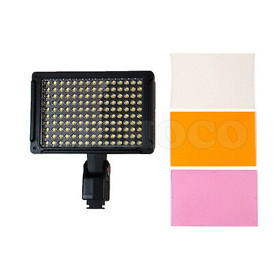 LED Video Light Camera Camcorder Lighting 5400K, 150 Bright LED lights+3 Filters