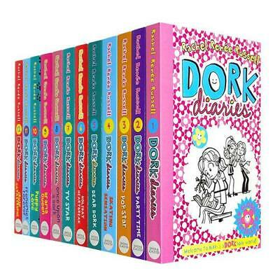 Dork Diaries Rachel Renee Russell Collection 9 Books Set OMG, Skating Sensation