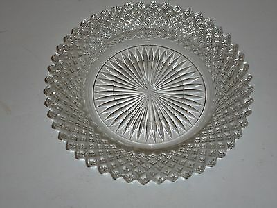 Miss America Clear Depression Glass Saucer