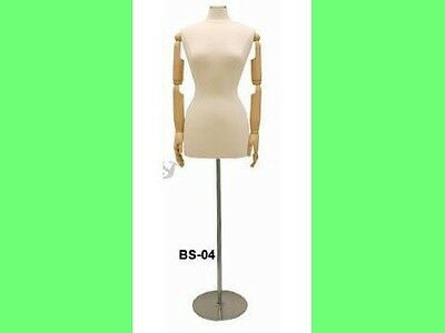 Female Mannequin with movable head and arms Dress Form #JF-F6/8WARM+BS-04