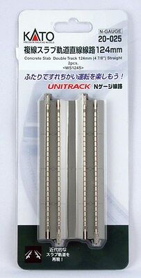 New Kato 20-025 124mm Double Slab Track Straight (2pcs)