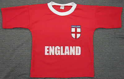 Junior Childrens Kids Boys England Football sports T-shirt Tops Size 4-15 Yrs