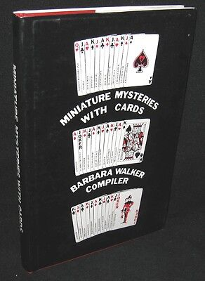 Miniature Mysteries with Cards Barbara Walker Compiler (1980, HCDJ) SIGNED Magic