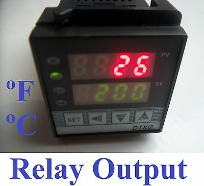 Dual Digital PID Temperature Controller Thermocouple TC RTD Pt100 Control °C°F