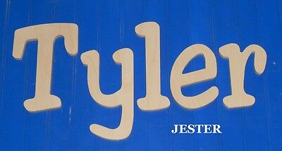 """Unpainted Wooden Wall Letters 8"""" size Wood Children Nursery Playroom Name Jester"""