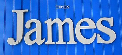 """Wooden Wall Letters 8"""" size Unpainted Wood Children Nursery Playroom Name Times"""