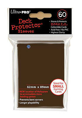 Ultra Pro Deck Protector Sleeves x60 - Small - Brown (for Yu-Gi-Oh etc.)