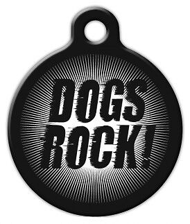 DOGS ROCK - Custom Personalized Pet ID Tag for Dog and Cat Collars