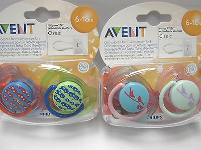 Philips Avent Classic Silicone  Soother 6-18 Months  Boys/girls  Bpa Free