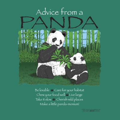 ADVICE FROM A PANDA  ADULT  T-SHIRT SMALL