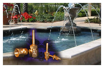 Commercial Grade Solid Brass Line Jets Nozzles With Shut Off Valve