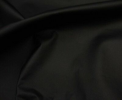 "Black Champion Faux Vinyl upholstery Faux Leather fabric by the yard 54"" Wide"