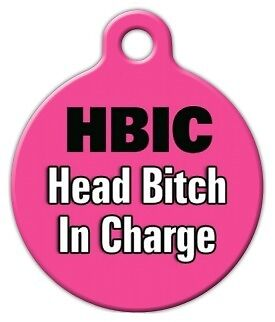HBIC - Custom Personalized Pet ID Tag for Dog and Cat Collars