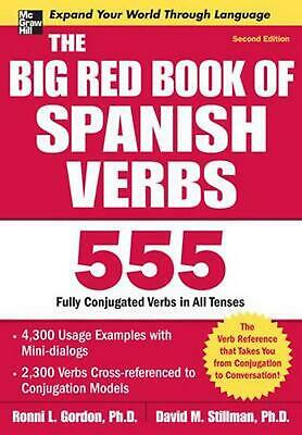 NEW The Big Red Book of Spanish Verbs by Ronni L. Gordon Paperback Book (English