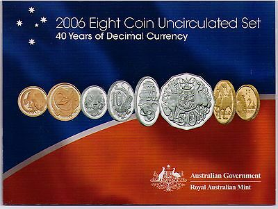 2006 Royal Australian Mint Uncirculated Coin Set - 40 Years of Decimal Currency
