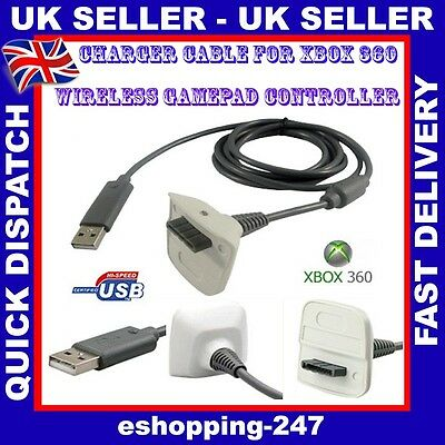 New Usb Charger Cable For Xbox 360 Wireless Gamepad Controller L032