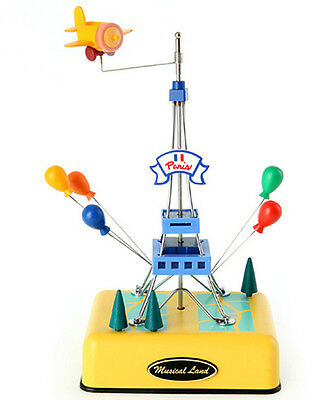 EIFFEL TOWER MUSIC BOX_EIFFEL TOWER STATUE SANKYO MUSICBOX YELLOW COLOR