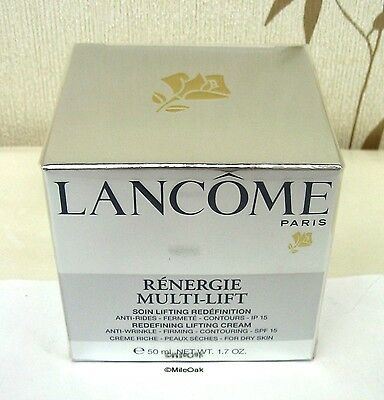 Lancome Renergie Multi - Lift 50ml - New - Dry Skin - SPF15 - Cellophane Sealed