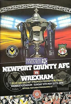 * NEWPORT COUNTY v WREXHAM- 2013 CONFERENCE PLAY-OFF FINAL PROGRAMME *