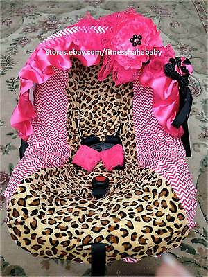 New adorable infant car seat cover canopy cover fit most seat leopard hot-pint