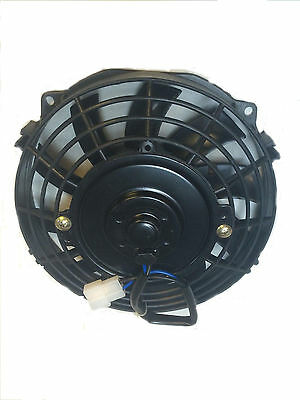 7 Inch 12V Black Electric Cooling Fan Performance Thermo Fan 12Volt