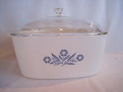 Corning Ware Blue Corn Flower 4 Qt Dutch Oven - Made In USA - Excellent