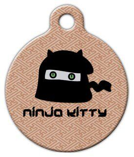 NINJA KITTY - Custom Personalized Pet ID Tag for Dog and Cat Collars