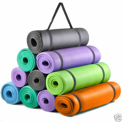 Yoga Mat 15mm Thick Exercise Fitness Physio Pilates Gym Mats 180cm Long