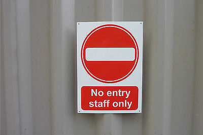No Entry Staff Only Various Sizes Multi-Listing Access Plastic Sign Or Sticker