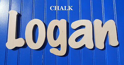 """Wooden Wall Letters 6"""" Size Unpainted Nursery Room Playroom Name Decor Chalk"""