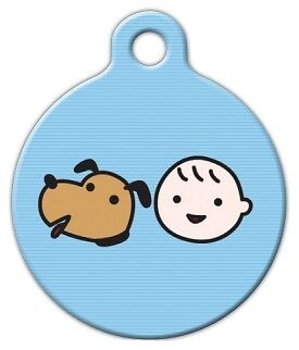 A BOY AND HIS DOG - Custom Personalized Pet ID Tag for Dog and Cat Collars