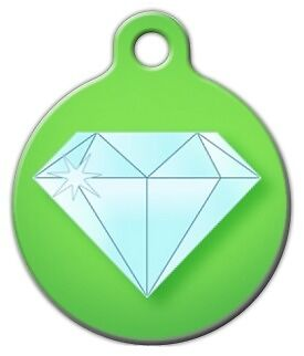 BLING DIAMOND - Custom Personalized Pet ID Tag for Dog and Cat Collars