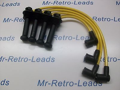 Yellow 8Mm Performance Ignition Leads Will Fit Ford Focus Zetec Quality Ht Lead