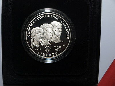 2013 USA Girl Scouts Of The USA Centennial Proof Silver $1 One Dollar Coin MINT