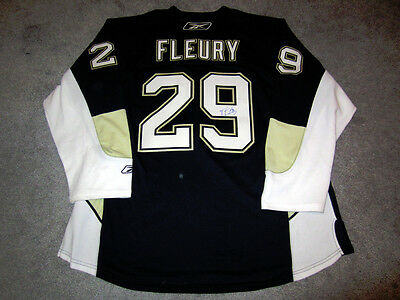 MARC ANDRE FLEURY Pittsburgh Penguins SIGNED Autographed Goalie Cut JERSEY COA