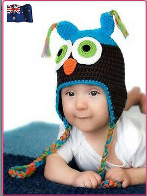Fashion Baby Boy/Girl/Toddler Brown Owls Knit Crochet Hat Beanie Cap /Baby Gift