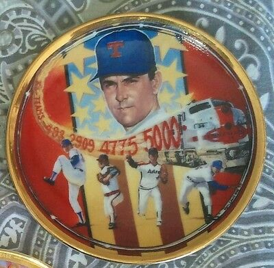 Nolan Ryan Autographed Sports Impressions Mini Plate