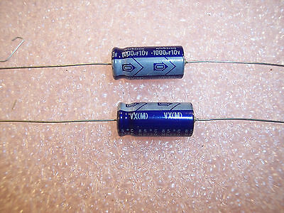 1500 10uf 35V AXIAL ELECTROLYTIC CAPACITORS TVX1V100MAA NICHICON QTY