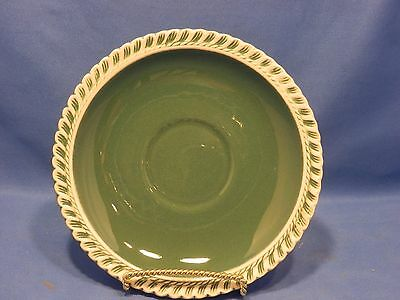 "VINTAGE HARKER PATE SUR PATE WARE CORINTHIAN TEAL GREEN 6 1/4"" SAUCER ONLY"