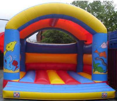 Fish Arched  Bouncy Castle 11.5 FT X 11.5 FT Made To Order