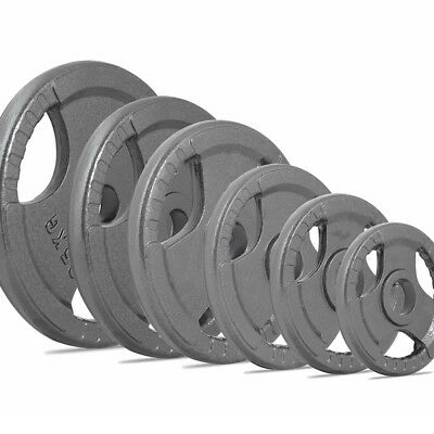"""2""""Weights Plates OLYMPIC Barbell Weight Metal Cast Iron 2.5kg 5kg 10kg 15kg 20kg"""