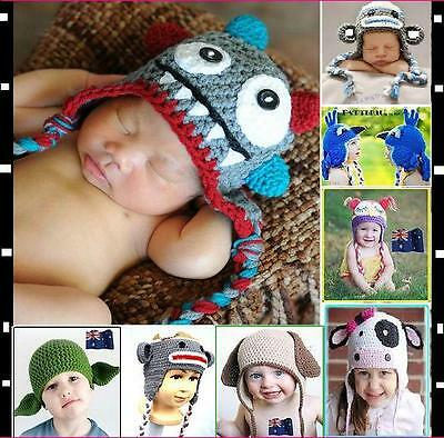 Baby Crochet Animal Mix Hat Beanie Knit Crochet Beanie Cap Baby Gift FOR Winter