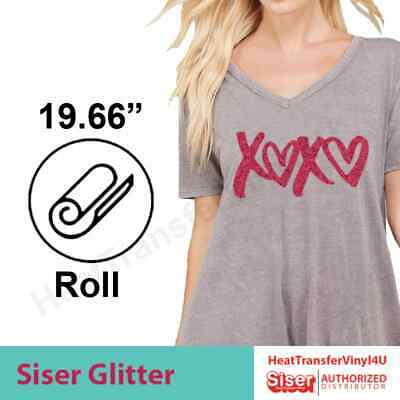 "Siser GLITTER Heat Transfer Vinyl 20"" x 5 Yards 'Mix It Up' Option Available!"