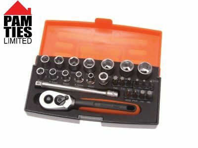 Bahco Sl25 Socket Set 25pc 1/4in Drive BAHSL25