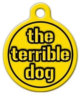 STEELERS TERRIBLE DOG - Custom Personalized Pet ID Tag for Dog and Cat Collars